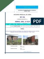 a. INFORME MENSUAL Nro 01 (Abril).xls