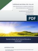 Epistemología de La Ciencia Educativa