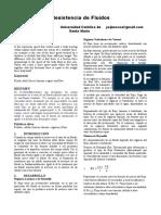 Articulo de Revision de Resistencia de Fluidos ,Rapidez Terminal y Fuerzas Fundamentales de La Naturaleza