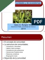 Ecología de Comunidades y Ecosistemas Prof. Gary Burgos Examen