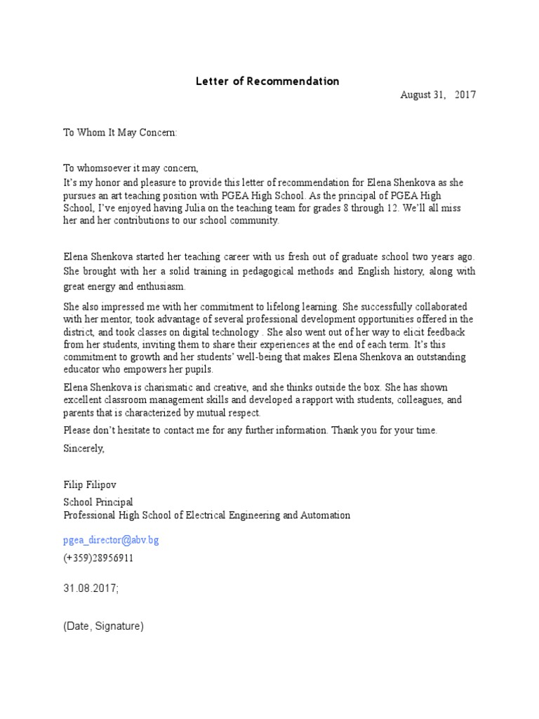 Sample Letter Of Recommendation For Principal Position from imgv2-2-f.scribdassets.com