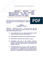 Republic Act No. 6981, Implementing Rules & Regulations