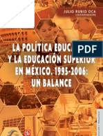 4_Politica Educativa y ES Balance 95-06 JRubio
