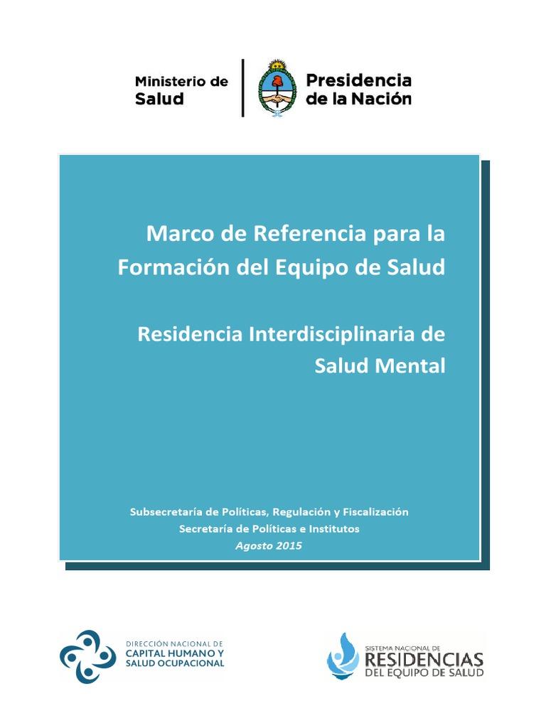 18Marco de Referencia Salud Mental (Equipo Interdisciplinario ...