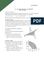 21emd 1 Mecanique Rationnelle 2000 2001