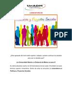 Politicas y Proyectos Sociales
