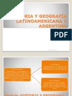 Arbol de Contenidos -Historia y Geografía Latinoamericana y Argentina
