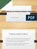 MEDICAMENTOS DE ESTRECHO MARGEN TERAPEUTICO