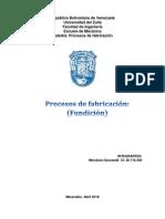 Proceso de Fundicion. Geoswald Mendoza