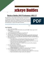 Buckeye Battles 2018 Warhammer 40K GT