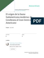 El Origen de La Fauna Sudamericana Moderna