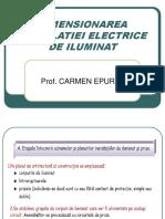Dimensionarea Instalatiei Electrice de Iluminat