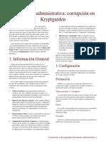 DDEP1 Corruption in Kryptgarden Administrative Document - Traducido