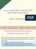 Dimensionarea Instalatiei Electrice de Forta