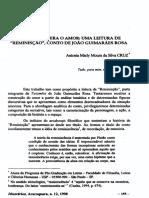 Uma Leitura de Reminisção de Guimarães Rosa