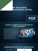 Ley de Datos Personales(Ley 29733)