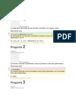evaluación inicial Calculo diferencial e integral Asturias