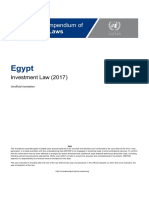 Egypt - Investment Law (English)