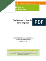 (RIHOS) Formato Reglamento Interno de Higiene y Seguridad