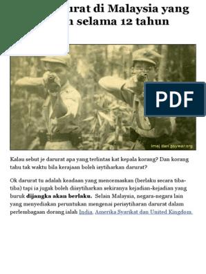 Kisah Darurat Di Malaysia Yang Berterusan Selama 12 Tahun Soscili