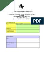 Formula Rio Ficha Inscripcin IV Jornadas de Historia Poltica