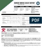 05.05.18 Mariners Minor League Report