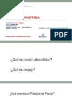 Clase Hidrostatica