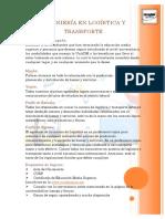 Ingeniería en Logística y Transporte