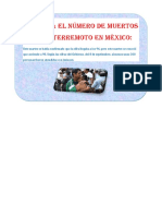 Aumenta El Número de Muertos Tras El Terremoto en México