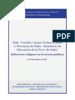 Fallo Castillo. Educación Religiosa en La Escuela Pública (12!12!2017)