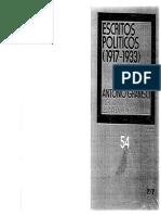 Antonio Gramsci, Escritos Políticos (1917-1933), México, Siglo XXI, 1990.