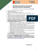 Requisitos Entrega de Proveido