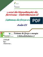 Sistemas de Forca e Energia Aula 03.2011.2