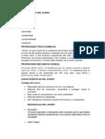 Especificaciones Técnicas Del Acero