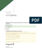 Calculo Diferencial e Integral Evaluación Unidad 1