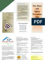 fall burn prevention brochure