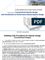 Review of Conventional Seismic Design Intro to Performance-Based Design
