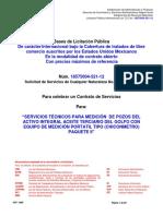 Bases Administrativas-servicios Técnicos Para Medición de Pozos