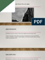 Texto Promocional - Un Pedacito de Lima