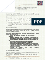 Criterios Generales Para La Seleccion de Maquinarias y Equipos Mineros