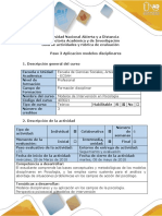 Modelos Disciplinares- Guía de Actividades y Rúbrica de Evaluación -Paso 3 - Aplicación Modelos Disciplinares