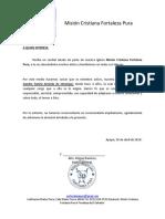 A Quien Interese - Carta de Recomendación Editable