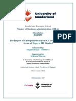 The Impact of Entrepreneurship on ICT Sector of Jordan