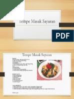 Tempe Masak Sayuran