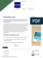 Elasticidad cruzada/  Economía General