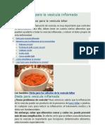5 Alimentos Para La Vesícula Inflamada