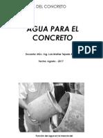 TEMA 02 - Agua Para El Concreto
