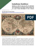 O Colonialismo Insidioso - Boaventura de Sousa Santos