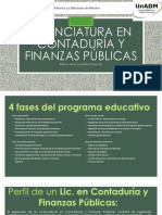 Campaña de Difusion, Licenciatura en Contaduría y Finanzas Públicas