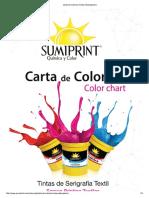 Carta de Colores (Tintas Estampación)